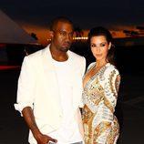 Kim Kardashian y Kanye West en Cannes 2012