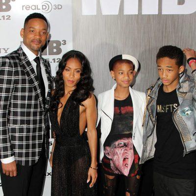 La familia al completo de Will Smith en la premiere de 'Men In black 3' en Nueva York