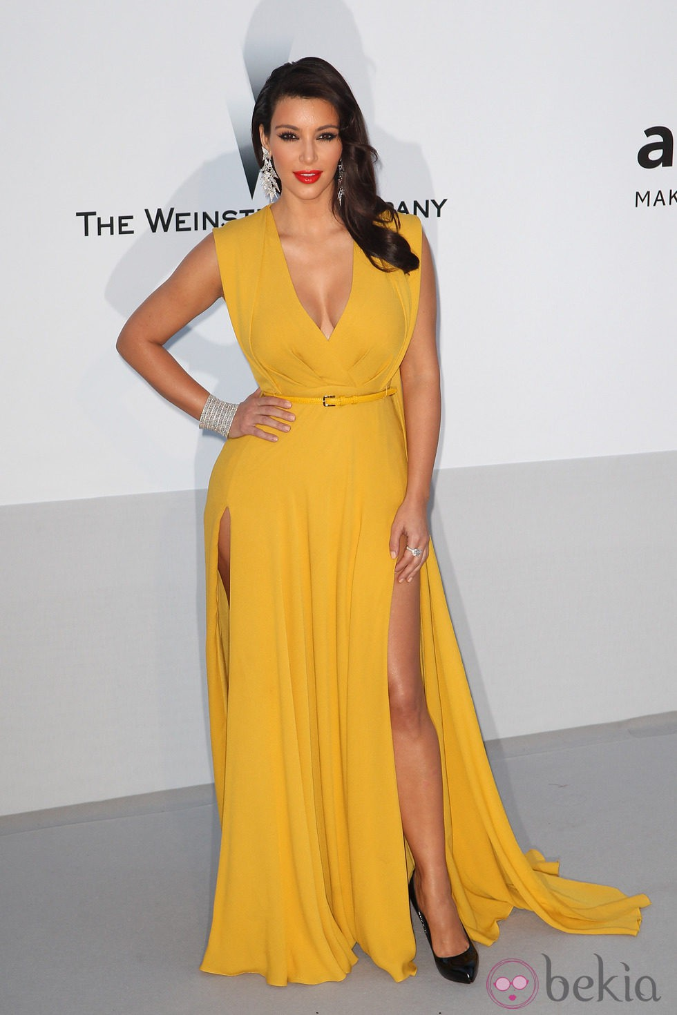 Kim Kardashian en la gala amfAR celebrada en el Festival de Cannes 2012