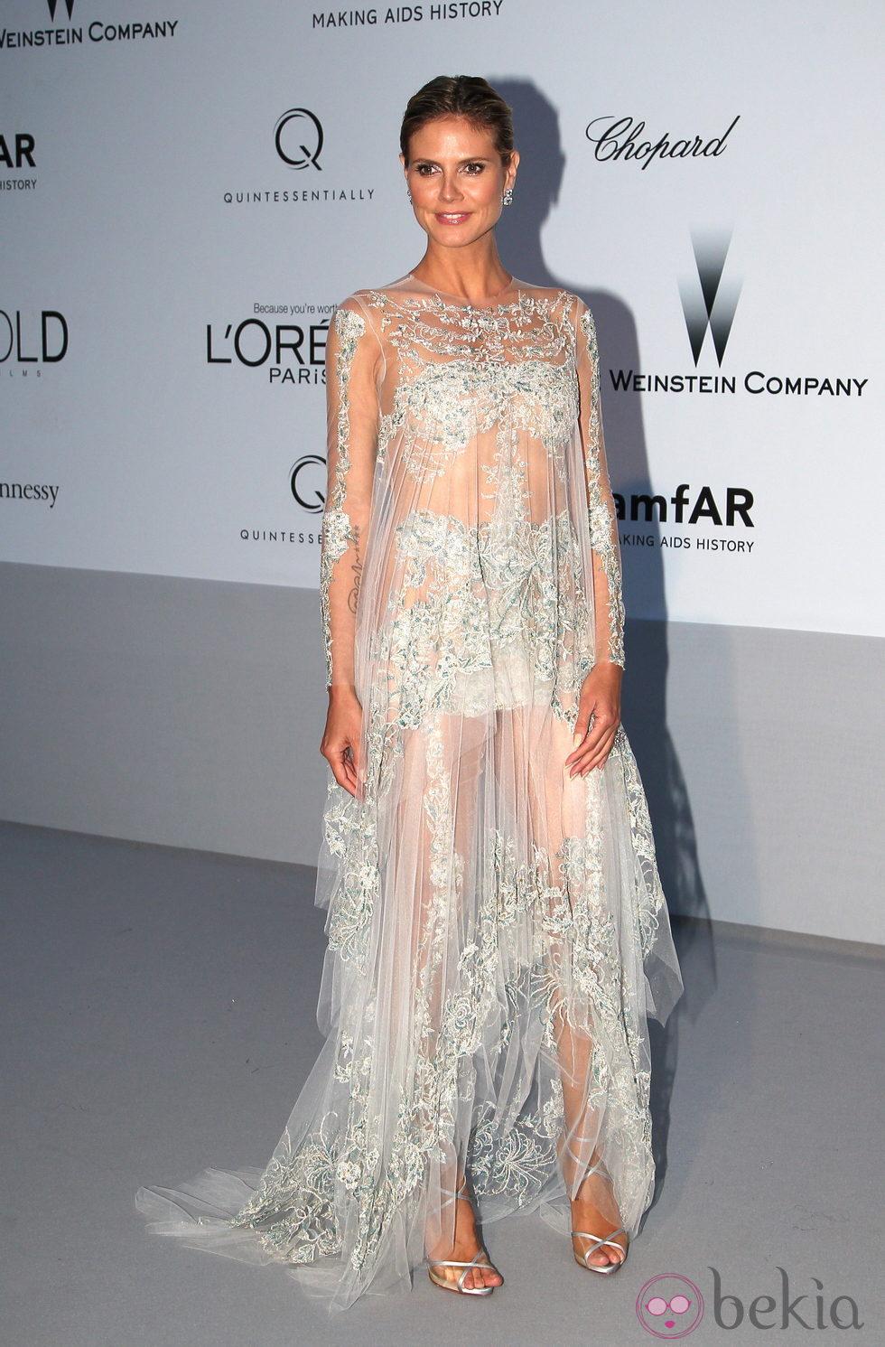 Heidi Klum en la gala amfAr celebrada en el Festival de Cannes 2012