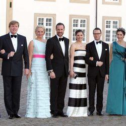 Los Príncipes de Holanda, los Príncipes de Noruega, los Príncipes de Suecia y los Príncipes de Dinamarca