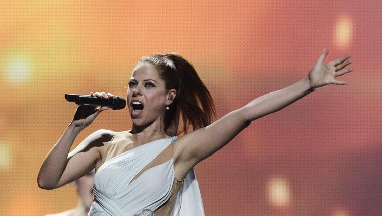 Pastora Soler en la gala final de Eurovisión 2012