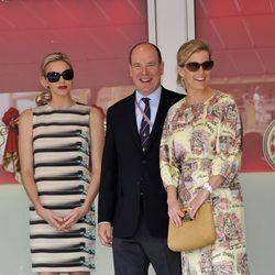 Los Príncipes de Mónaco y la Condesa de Wessex en el Gran Premio de F1 de Mónaco