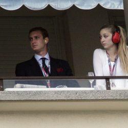 Pierre Casiraghi y Beatriz Borromeo en el Gran Premio de Fórmula 1 de Mónaco