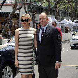 Los Príncipes de Mónaco en el Gran Premio de Fórmula 1 de Mónaco