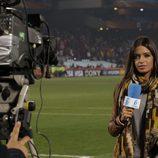 Sara Carbonero concentrada antes de entrar en directo