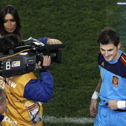Sara Carbonero entrevista a Iker Casillas tras un partido de la Selección Española