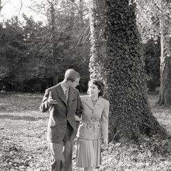 La Reina Isabel y el Duque de Edimburgo en 1947