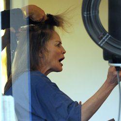 Sharon Stone muy enfadada