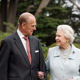 La Reina Isabel II y el Duque de Edimburgo en sus Bodas de Oro