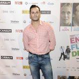Asier Etxeandia en el estreno de la película 'En fuera de juego'