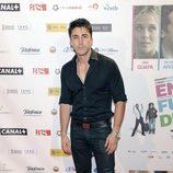 Rubén Sanz en el estreno de la película 'En fuera de juego'