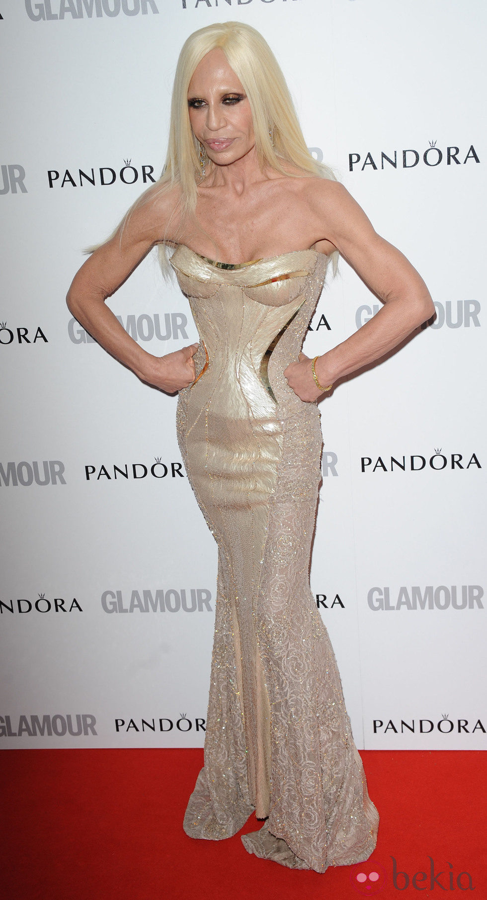 Donatella Versace en los Glamour Women of the Year Awards 2012 de Londres