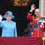 Isabel II y el Duque de Edimburgo en el 83 cumpleaños de la Reina