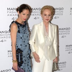 Carolina Herrera y Carolina Adriana Herrera en los Mango Fashion Awards 2012