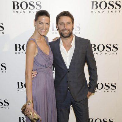 Laura Sánchez y David Ascanio en la fiesta organizada por la firma Hugo Boss