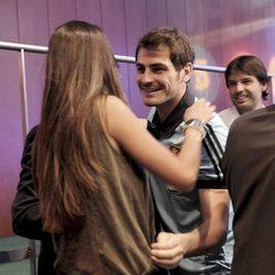 Iker Casillas y Sara Carbonero en la presentación de la Eurocopa 2012