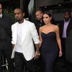 Kim Kardashian y Kanye West en Londres