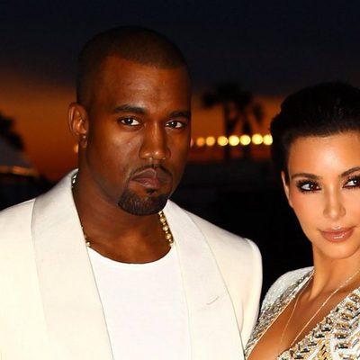 Kanye West y Kim Kardashian en Cannes