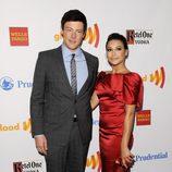 Cory Monteith y Naya Rivera en la entrega de los Premios GLAAD 2012
