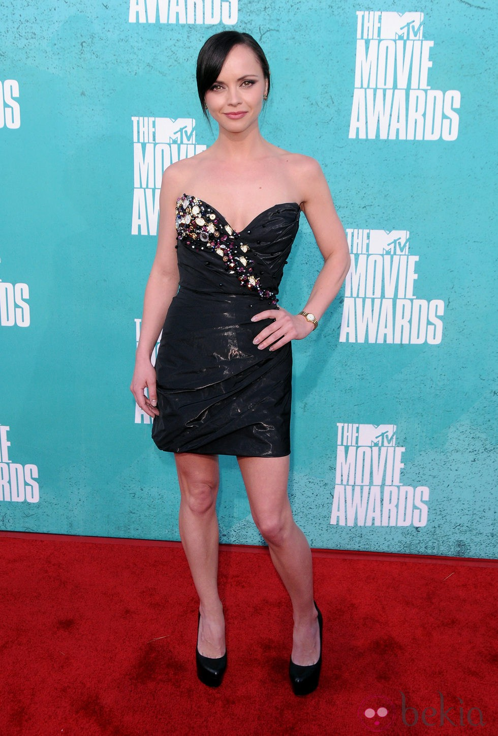 Christina Ricci en la alfombra roja de los MTV Movie Awards 2012