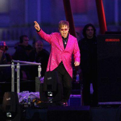Elton John en el concierto del Jubileo de Diamante de la Reina Isabel II