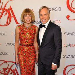 Anna Wintour y Tommy Hilfiger en los Premios CFDA 2012