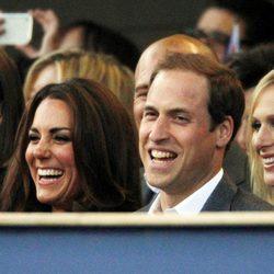 Los Duques de Cambridge y Zara Phillips en el concierto del Jubileo de Diamante