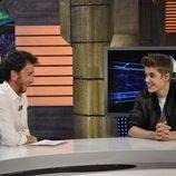 Justin Bieber y Pablo Motos en 'El Hormiguero'