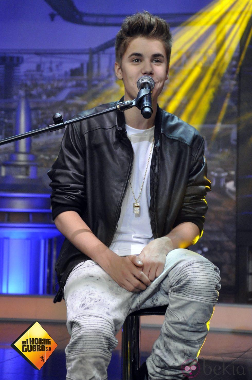 Justin Bieber cantando en el programa 'El Hormiguero'