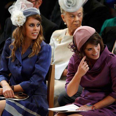 Las Princesas de York en la misa de acción de gracias del Jubileo de Diamante