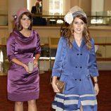 Las Princesas de York en la recepción de Guildhall del Jubileo de Diamante
