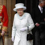 La Reina Isabel II en el almuerzo del Jubileo de Diamante en Westminster Hall