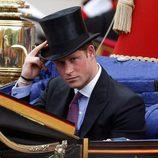 El Príncipe Harry en el desfile de carruajes del Jubileo de Diamante