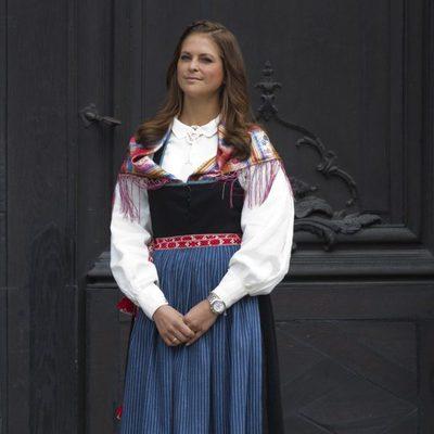 La Princesa Magdalena en la apertura del Palacio Real en el Día Nacional de Suecia