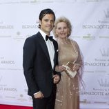 Carlos Felipe de Suecia y Marianne Bernardotte en los Premios Marianne & Sigvard Bernadotte