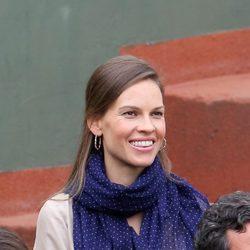 Hilary Swank en la final de Roland Garros 2012