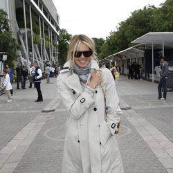 Elle Macpherson en la final de Roland Garros 2012