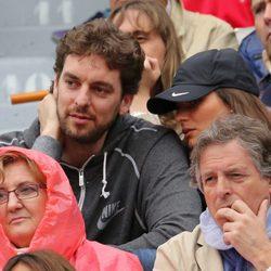 Pau Gasol y Silvia López en la final de Roland Garros 2012
