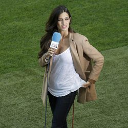Sara Carbonero en el partido de 'La Roja' contra Italia en la Eurocopa 2012