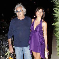 Flavio Briatore y Elisabetta Gregoraci en la inauguración de un restaurante en Ibiza