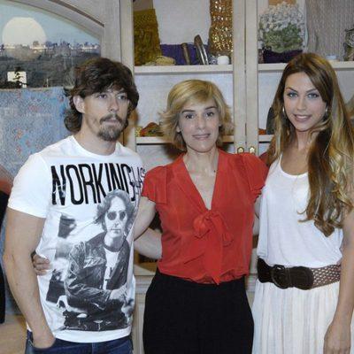 Adrián Lastra, Anabel Alonso y Nazaret Aracil en la presentación de 'Stamos okupa2'