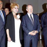Carmen Cervera y Rodrigo Rato en la inauguración de la exposición 'Hopper'