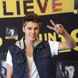 Justin Bieber en la presentación de 'Believe' en México