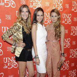 Laura Sánchez, Eva González y Claudia Ortiz en la fiesta de Uno de 50