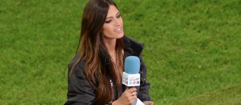 Sara Carbonero retransmite el partido España-Irlanda en la Eurocopa 2012
