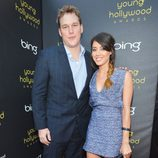 Chris Pratt y Aubrey Plaza en los Young Hollywood Awards 2012