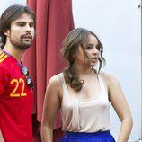 Chenoa y Curi Gallardo acudieron a ver el partido España-Irlanda de la Eurocopa 2012
