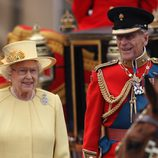 La Reina Isabel II y el Duque de Edimburgo en el Trooping The Colour