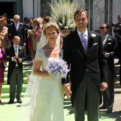 María Carolina de Borbón-Parma y Albert Brenninkmeijer tras su boda religiosa